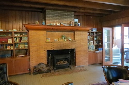 I had forgotten much, like what the fireplace looked like, even though I must have cleaned the hearth many times.