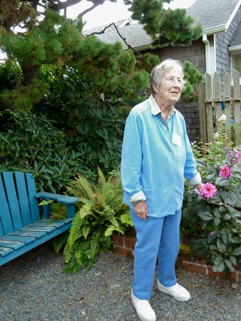 June Kroft, cottager, gardener, quilter