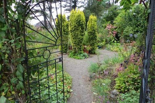 inside the deer fence garden