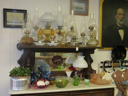 In case of a power outage, Olde Towne has a good stock of oil lamps for sale.
