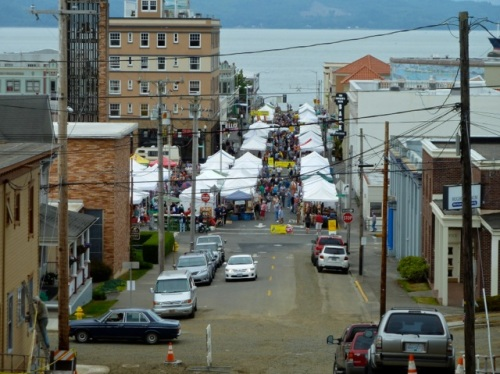 Allan's photo: looking downhill to the market