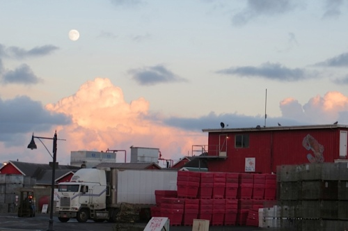 moonrise over Jessie's Fish Co