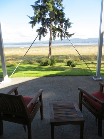 Willapa view covered patio, Sept 2013