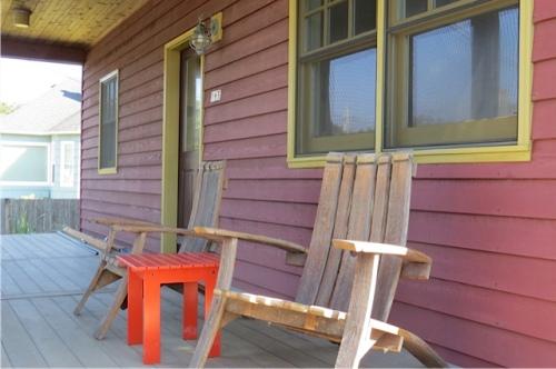 Next door to Hopper's, another comfy porch.