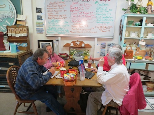 a lunch group at Olde Towne