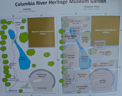 map of Master Gardener project at our museum