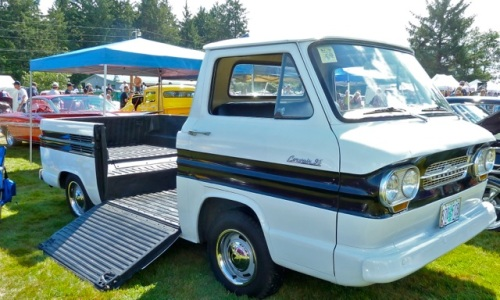 """Allan says """"The van with ramp is a factory stock Chevrolet Corvair rear engine pick-up like a VW """""""