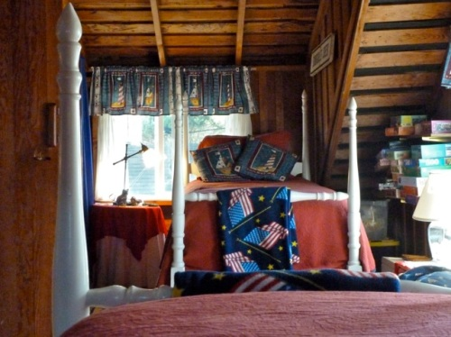 attic sleep spot with south window