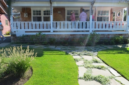 an expansive front porch