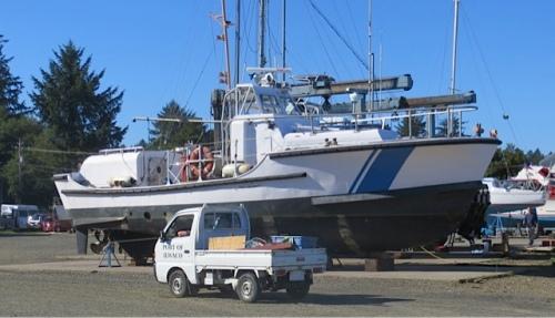 the cute little Port of Ilwaco truck