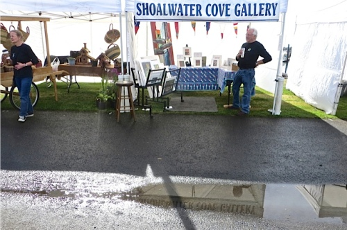 reflective pool by the Shoalwater Cove booth