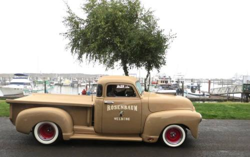 This old truck won the People's Choice award.