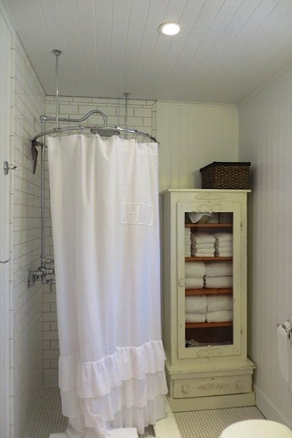 shower and towel cabinet