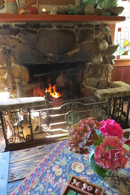 old fashioned fireplace surround
