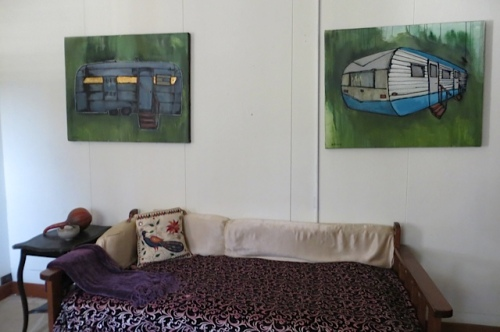 trailer paintings in apartment three