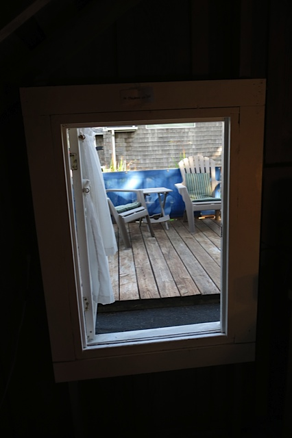 another window to the deck