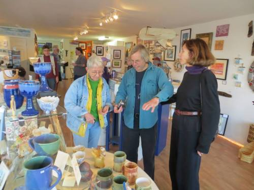 Jan Richardson with Allan and local artist Martha Lee