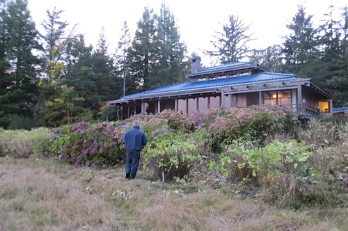 6:32:  Allan by the area he pruned in the late afternoon
