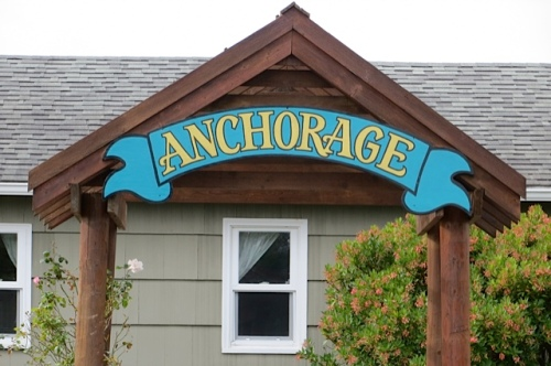 one of the Anchorage signs