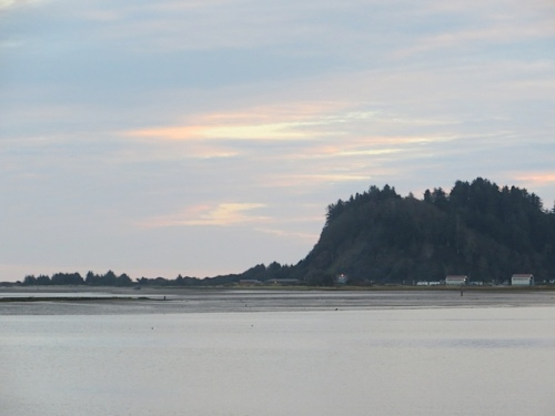 looking toward the Cape Disappointment Coast Guard Station