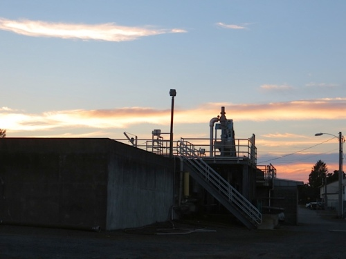 over the water treatment plant