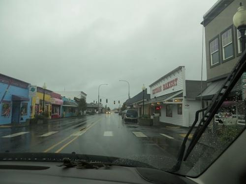 into Long Beach....the rain had lessened