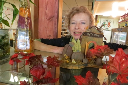 owner, chef, barista Luanne at Olde Towne