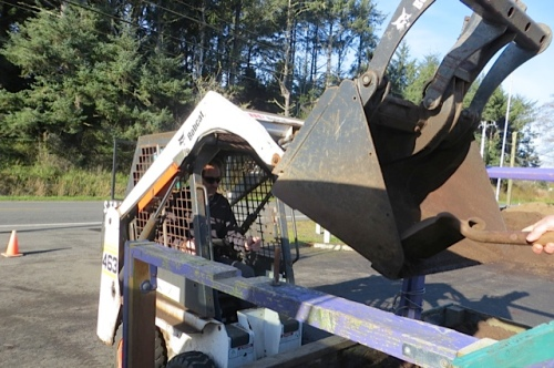 Raymond also has a larger machine for loading larger vehicles.