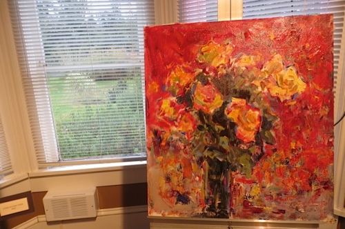 rose painting by Eric Wiegardt