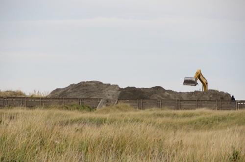 reshaping sand