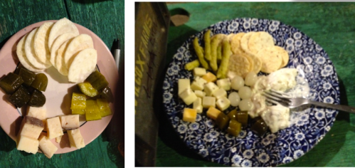 last night's and tonight's snack plate