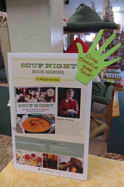 Soup Night book signing tomorrow!