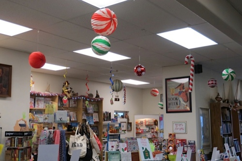seasonal decorations at Time Enough Books