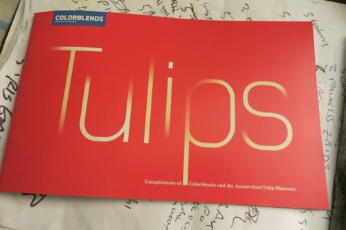 Tulips booklet atop the bulb clipboard