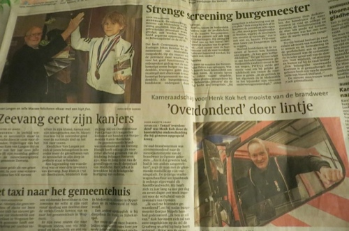 As usual, a sheet from a Dutch newspaper...