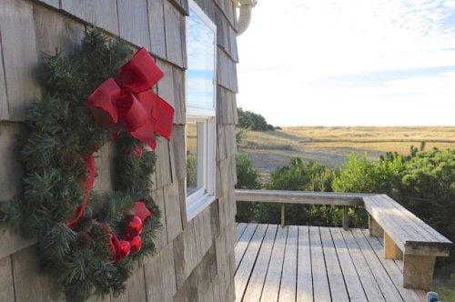 wreath with ocean view