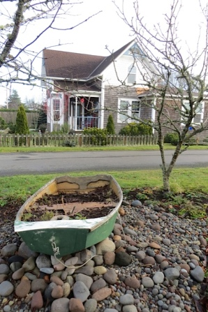 the garden boat, devoid of annuals now