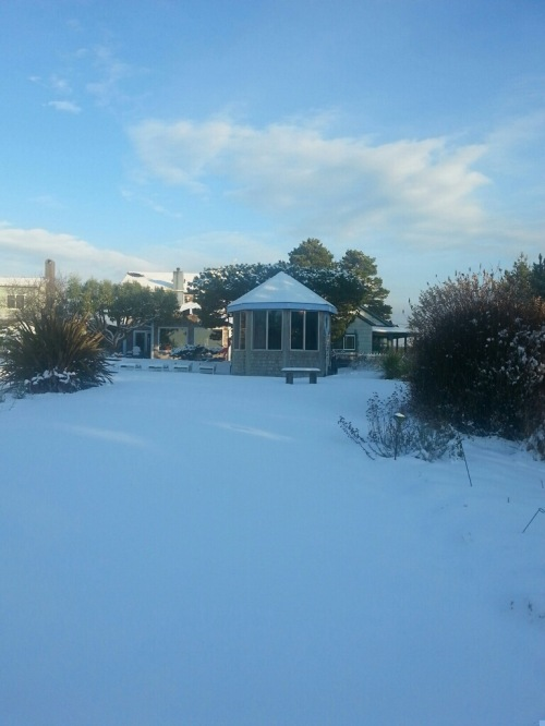 Boreas, looking east toward the hot tub room.  The garden has disappeared.