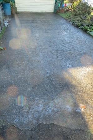 iced driveway