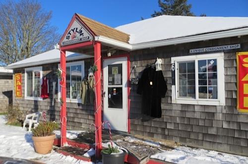 The shop is a cute little cottage.