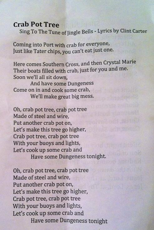 Oh Crab Pot Tree! is always a rousing song.