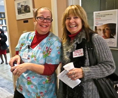 Right: Our garden client Diane, president of the hospital foundation.