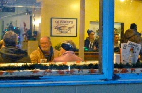 OleBob's stayed open late to serve dinner.