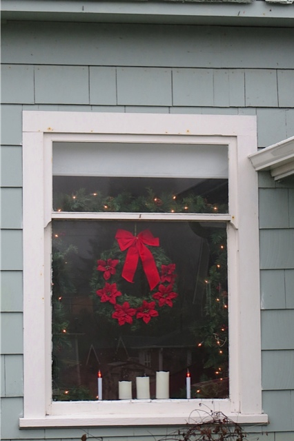 our new neighbour's window (three doors down)