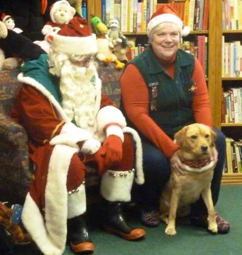 Karla, Scout, and Santa