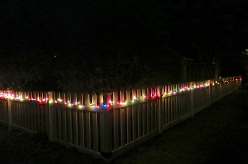 a picket fence near Advent and Willow