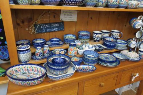 Owner Katie Williams loves Polish pottery