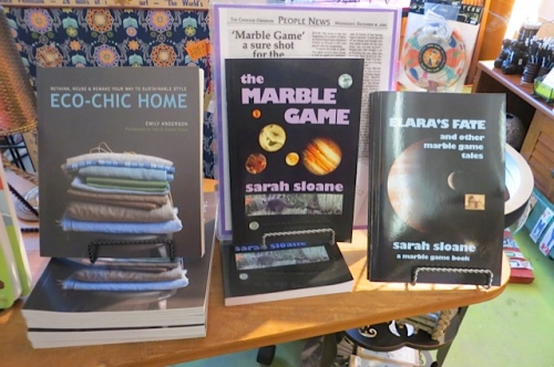 We recommend our friend Sarah's children's fantasy series, The Marble Game.