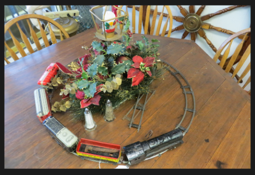 Chester set up a Christmas train!