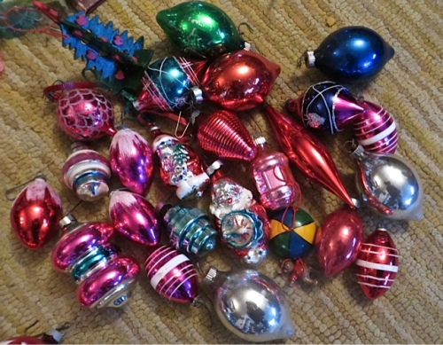the unusually shaped ornaments